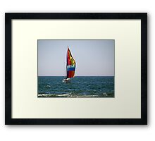 Blow Boat Framed Print