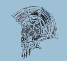 Punk Skull - plain One Piece - Short Sleeve