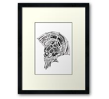 Punk Skull - plain Framed Print