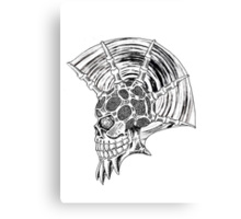 Punk Skull - plain Canvas Print
