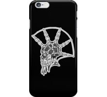 Punk Skull - bordered iPhone Case/Skin