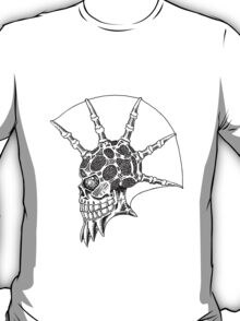 Punk Skull - bordered T-Shirt