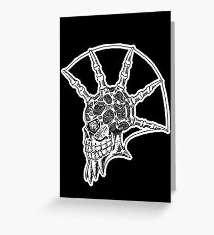 Punk Skull - bordered Greeting Card