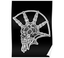 Punk Skull - bordered Poster
