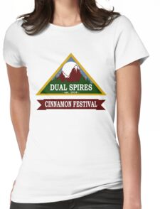 Dual Spires - Psych Womens Fitted T-Shirt