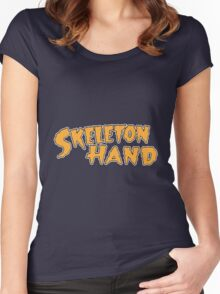 Skeleton Hand logo - ACG Comics Women's Fitted Scoop T-Shirt
