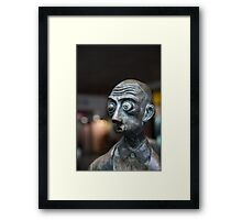 Kooky look Framed Print