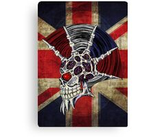 Union Jack Punk Skull Canvas Print