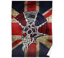 Union Jack Punk Skull Poster