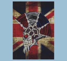 Union Jack Punk Skull One Piece - Short Sleeve