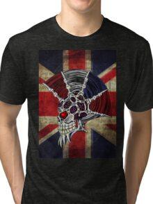Union Jack Punk Skull Tri-blend T-Shirt