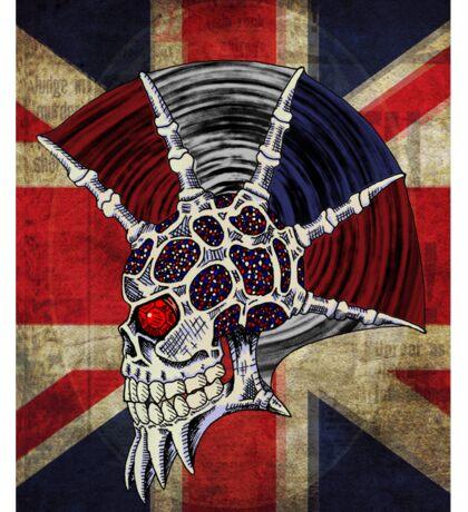 Union Jack Punk Skull Sticker