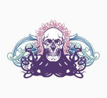 Skull octopus print by Komiksar