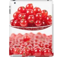 Red currant on white background iPad Case/Skin