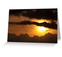 Dramatic sunset with dark clouds Greeting Card