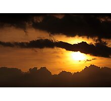 Dramatic sunset with dark clouds Photographic Print