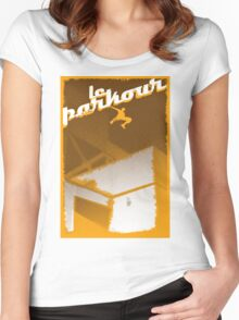 Parkour print Women's Fitted Scoop T-Shirt