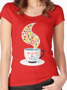 Enjoy the Tea Women's Fitted Scoop T-Shirt
