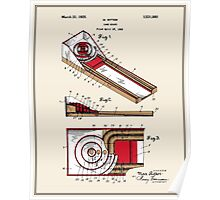Skee Ball Patent - Colour Poster