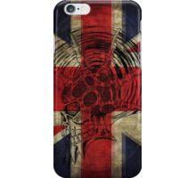 Union Jack Punk Skull - outline iPhone Case/Skin