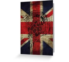 Union Jack Punk Skull - outline Greeting Card