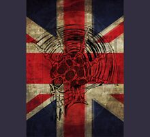 Union Jack Punk Skull - outline Unisex T-Shirt