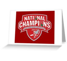 Buckeyes - 2015 Champs Greeting Card