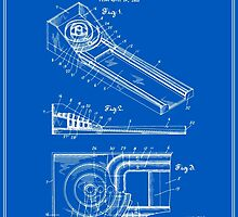 Skee Ball Patent - Blueprint by FinlayMcNevin
