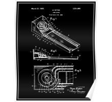 Skee Ball Patent - Black Poster