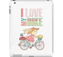 Cute rabbit riding a bike iPad Case/Skin