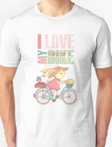 Cute rabbit riding a bike T-Shirt