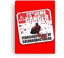 Extreme Danger Canvas Print