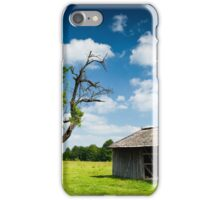 Wooden cabin and tree iPhone Case/Skin