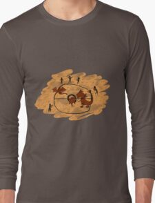 Rupestrian Pokemon Battle V.1 Long Sleeve T-Shirt