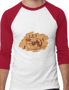 Rupestrian Pokemon Battle V.1 Men's Baseball ¾ T-Shirt