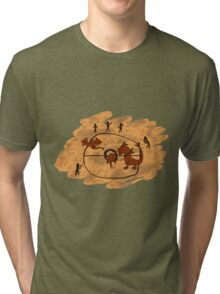 Rupestrian Pokemon Battle V.1 Tri-blend T-Shirt
