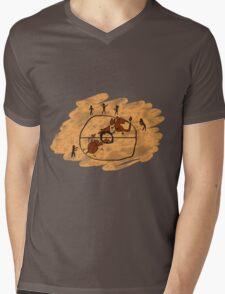Rupestrian Pokemon Battle V.2 Mens V-Neck T-Shirt