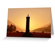 Glenfinnan Monument in the Winter Sunset. Greeting Card
