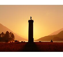 Glenfinnan Monument in the Winter Sunset. Photographic Print
