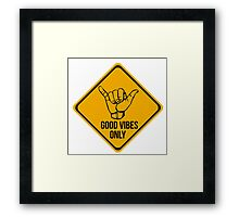 Good vibes!! Music is the answer! Framed Print