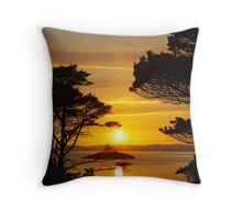 Sunset at Roshven near Lochailort. Throw Pillow