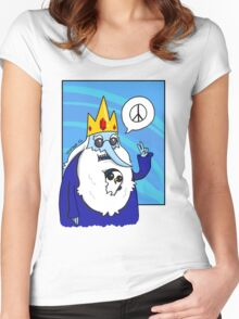 Ice King-Peace! Women's Fitted Scoop T-Shirt
