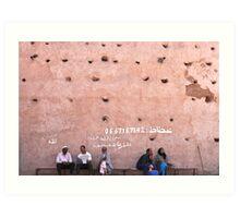 the wall of the medina Art Print