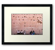 the wall of the medina Framed Print