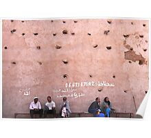 the wall of the medina Poster