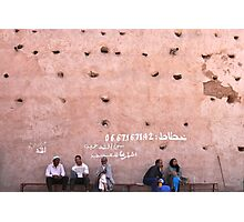 the wall of the medina Photographic Print