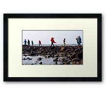 The way to woman island Framed Print
