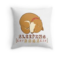 Sleeping dog Throw Pillow