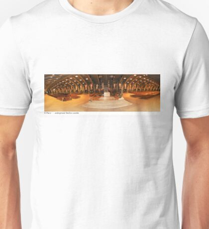 pius x  underground basilica lourdes Unisex T-Shirt