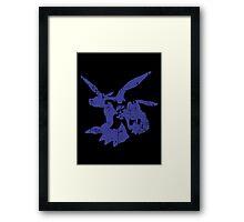 Blue Blaster Framed Print